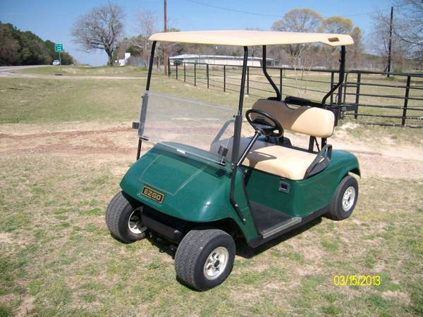 Golf Cart Electric EZ GO Green - $1675 (Athens,TX)