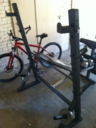 Used Marcy Diamond MD 857 Olympic Surge Weight Bench and Weights - $150 (Tyler, TX)