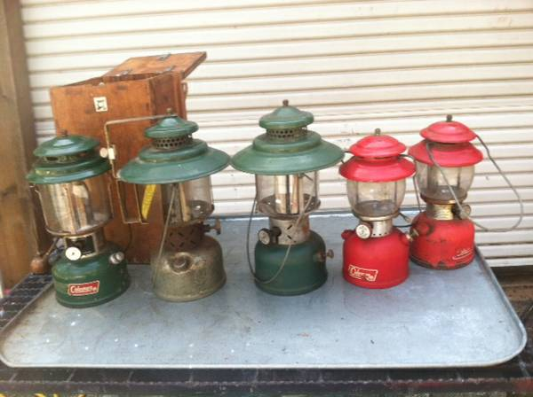 6 Coleman Gas Lanterns (Whitehouse)