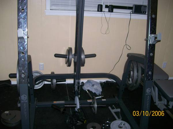 free weight home gym - $400 (lake fork)