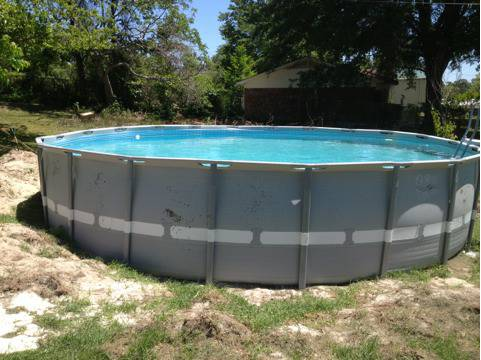 22 ft round intex pool  - $550 (Tyler)