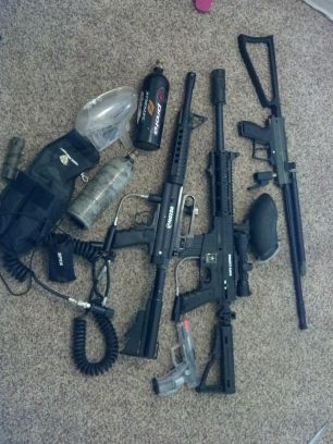 custom paintball gear - $350 (tyler)