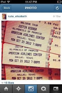 Justin Bieber Concert ticket for his show at American Airlines Center in Dallas - $400 (Dallas, TX)