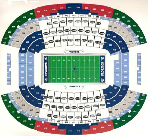 Oakland Raiders at Dallas Cowboys Tickets Thanksgiving Day - $89 (Lower Level)