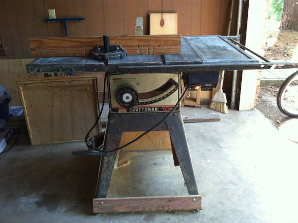 Sears 10 table saw espotted for 10 inch table saw craftsman