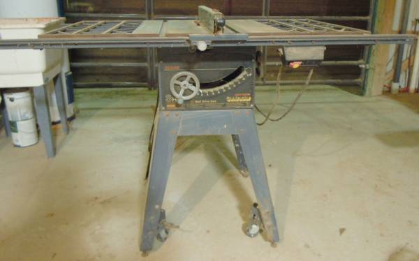 10 Craftsman contractor table saw 12 Sears band saw - $75 (Van)