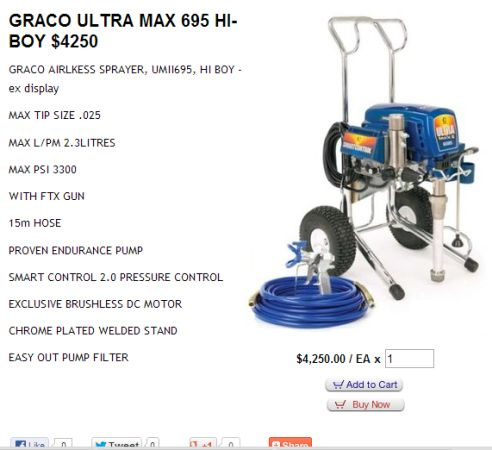 Graco Ultra max 695 - $750 (whitehouse)