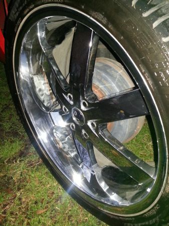 24 Inch Chrome Rims With Tires - 5 lug- - $1 (Mt. Pleasant)