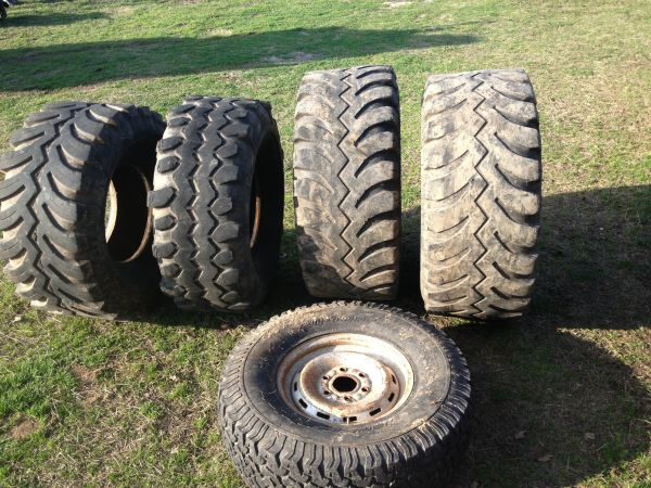 38.5, 40, 44 mud tires - $1 (Wills point)