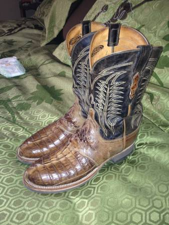 LUCHESE Crocodile boots NEW sz 10 - $350 (Longview)