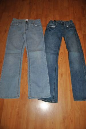 Girls size 12 jeans 2 pair -   x0024 6  Whitehouse