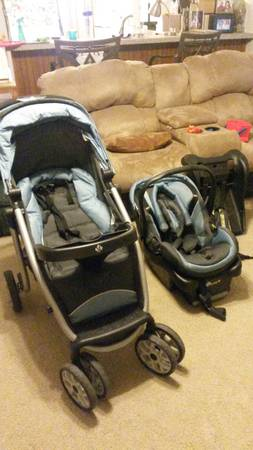 Pack Play with matching stroller car seat and bases - $275 (Tyler, TX)