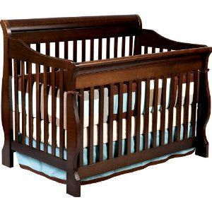 Crib 4 in 1 Dark Cherry Wood - $200 (Gilmer)