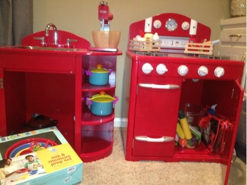 Pottery barn kids kitchen- stove and sink - $350 (Tyler)