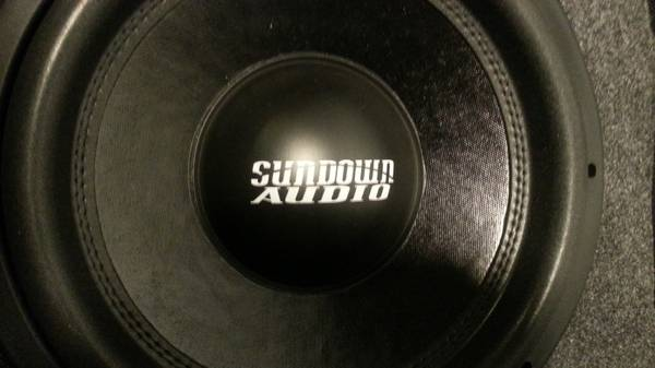 Ported Sundown SA-12, Alpine M500,  complete setup with wiring - $250 (Commerce, TX)