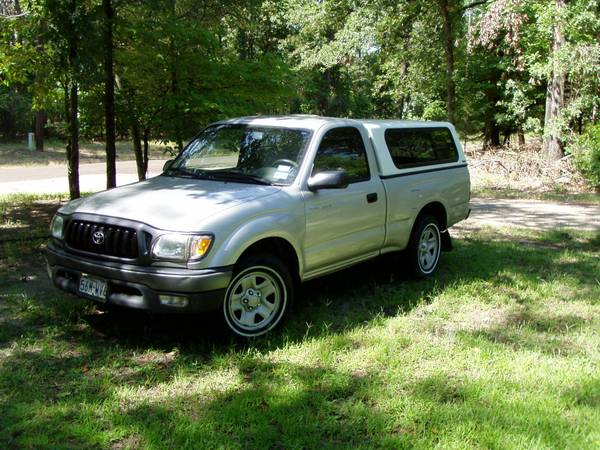 2002 TACOMA -AUTO WITH CAMPER SHELL - $6295 (SCROGGINS, TX)