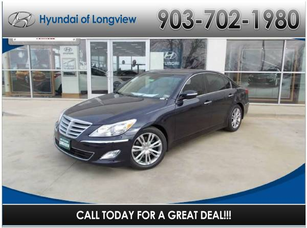 2013 HYUNDAI GENESIS 4DR SDN V6 3.8L Twilight Blue REAR WHEEL DRIVE 22 Miles (Hyundai of Longview)