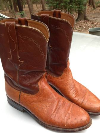 Lucchese Boots size 9 12 D 12 Quill Ostrich - x0024150 (Hawkins)