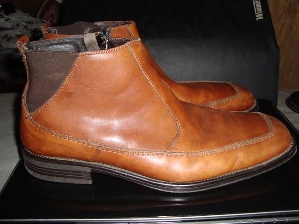 Side zip mens ankle dress boot - $35 (Nacogdoches)