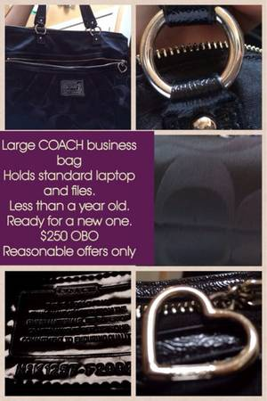 LARGE COACH BAG   -   x0024 250  Chapel Hill