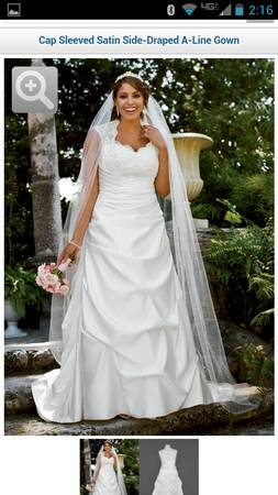 Davids Bridal Wedding Gown, Ivory - $200 (Flint, Texas)