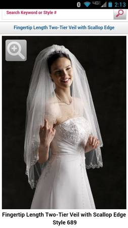 Almost New Davids Bridal Veil - FOR SALE - $75 (Flint, Texas)