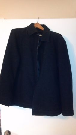Mens Alfani Pea Coat Black Zip Up L (Best offer) - $25 (Tyler)