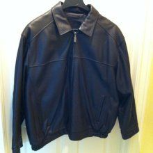 Roundtree  Yorke St. Louis Classic Leather Bomber Jacket $150 obo - $1 (Hallsville Texas)