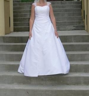 Plus Size Davids Bridal Wedding Dress - Lots of Bling - $300 (Bullard, Texas)