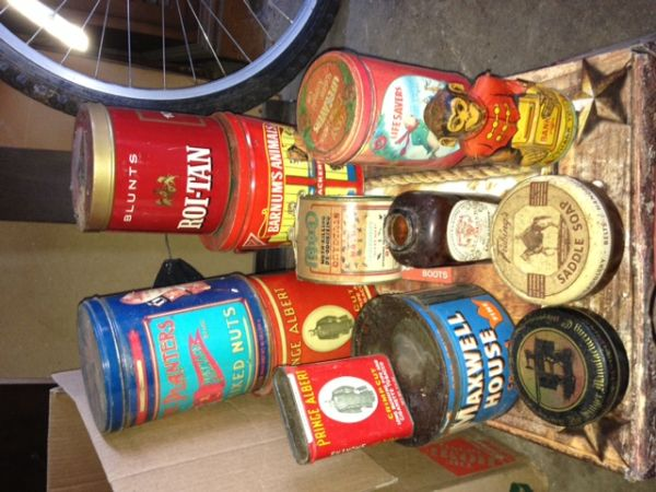 Vintage Tins including Snoopy Jack-In-The-Box - $75 (Edgewood)