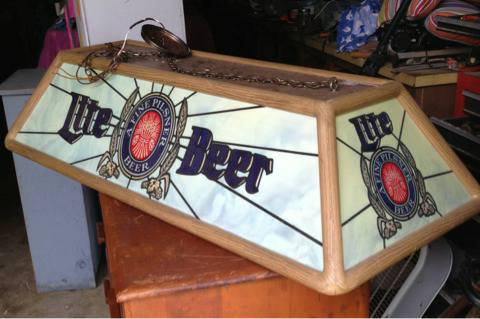 Miller Lite Pool Table Hanging Light Beer Sign - $150 (Lindale)
