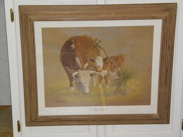 Limited Edition 113 Of 1000 Texas Artist Wayne Baize Royal Breed Print - $100 (Coffee City)