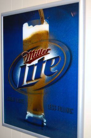 Large Miller Lite and Corona Beer Signs framed - $55 (tyler)