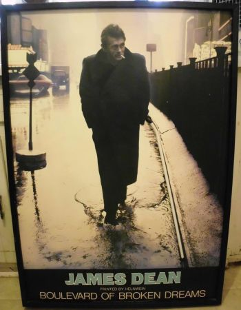 Framed JAMES DEAN Poster Boulevard of Broken Dreams with Neon Light - $85 (TylerEast Texas)