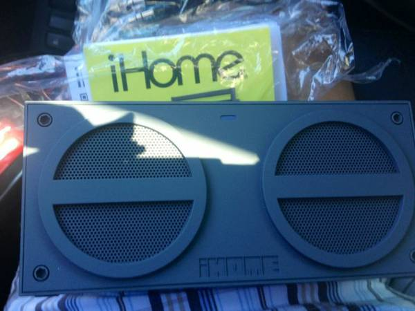 iHome iBN24GC Bluetooth Rechargeable Stereo Mini Speaker (Grey) - $50 (Tyler)