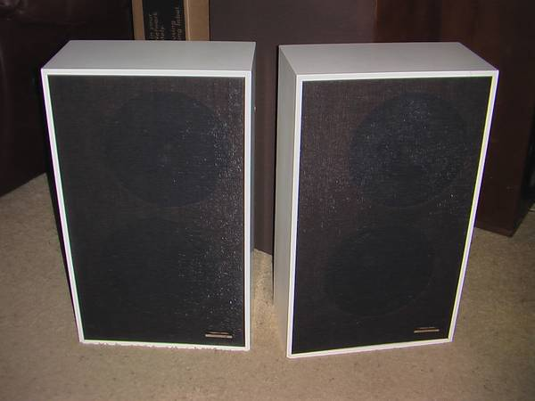 Vintage Optimus 2BF Speakers 2-way 8 in White - $40 (Tyler, TX)