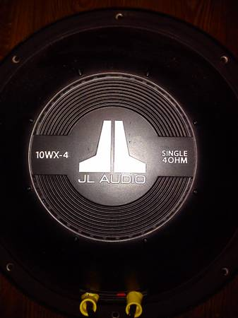 two JL Audio 10WX-4 10 4-Ohm sub with boxes - $165 (flint)