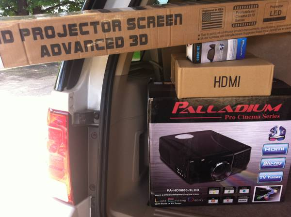 3D READY PROJECTOR  72 SCREEN - $3000 (TYLER, TX)