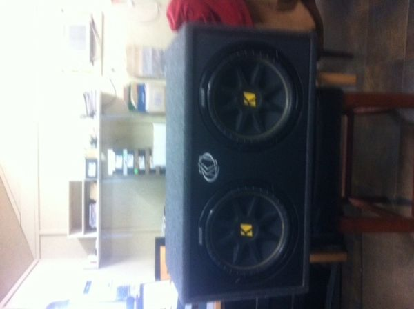 Two 12 inch Kicker Subwoofers mounted in box - $325 (Tyler, TX)