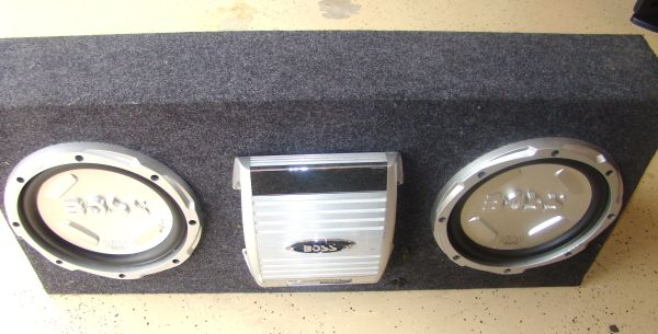 BOSS VEGA SUBS AND AMPLIFIERS IN BOXES WITH CAPACITOR - $225 (Tyler, Tx)