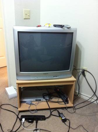 27 inch Insignia TV w Philips DVD player w Stand - $60 (Nacogdoches)