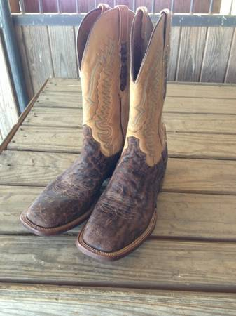 Lucchese Square Toe Elephant Boots - $500 (Athens,TX)