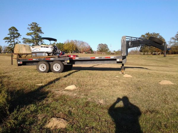 20 FLATBED GN TANDEM AXLE TRAILER,SINGLE AXLE TRAILER - $2900 (MARSHALL,TX.)