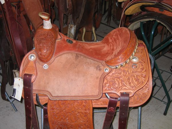 Martin 78 Tooled Calf Roping Saddle (Fayetteville, AR)