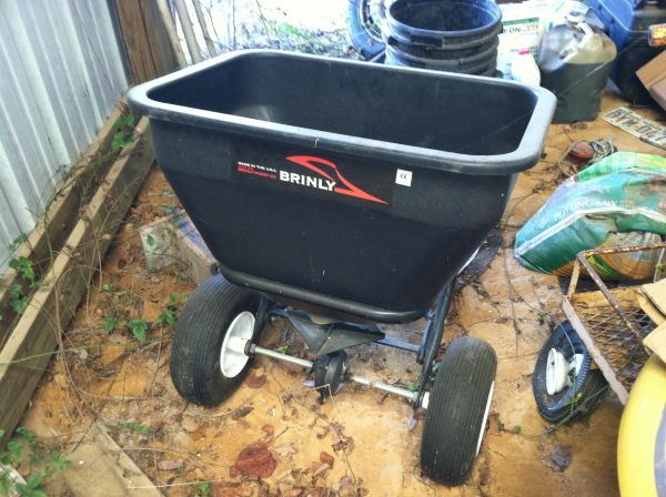 NEW Brinly Tow Behind Broadcast Spreader - $200 (Murchison)