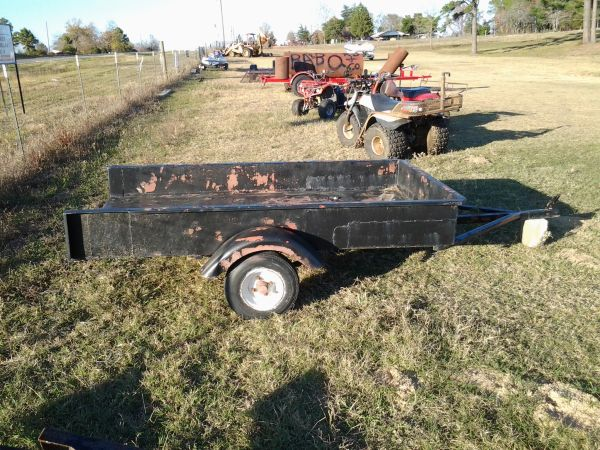 20 FLATBED GN TANDEM AXLE TRAILER SOLD. SINGLE AXLE TRAILER - $300 (MARSHALL,TX.)
