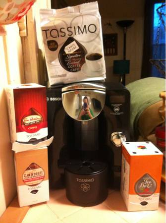 Tassimo brewer and coffee -   x0024 50  Marshall