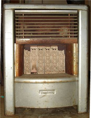 Dearborn gas heater, 28 inches tall - $20 (Tyler)