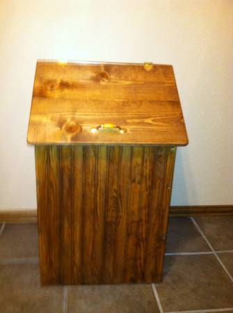HAND CRAFTED GARBAGE CAN HOLDERS -   x0024 110  CHANDLER  TX