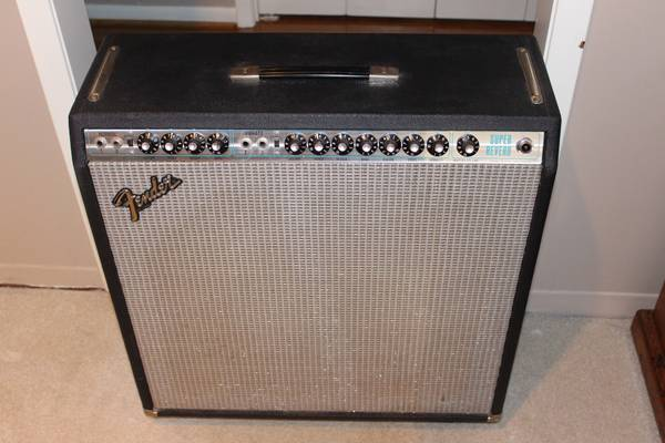 1978 FENDER SUPER REVERB ONE OWNER  -   x0024 750  TYLER TX